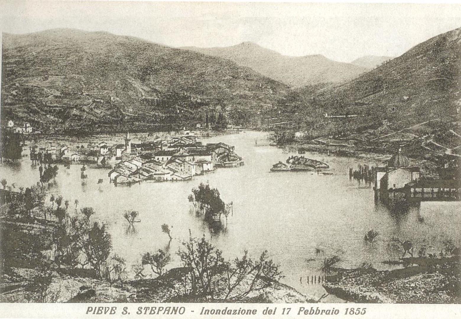 Alto tevere - inondazione del 1855 di Pieve Santo Stefano
