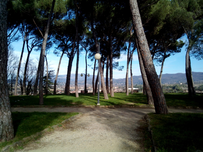 """Passeggiata in centro ad Arezzo:Arezzo: Catenaia vista dal """"prato"""" di Arezzo"""