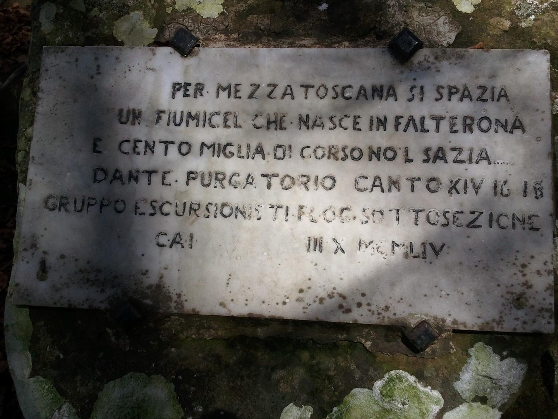 Incisione presso Capo d'Arno, sopra la sorgente