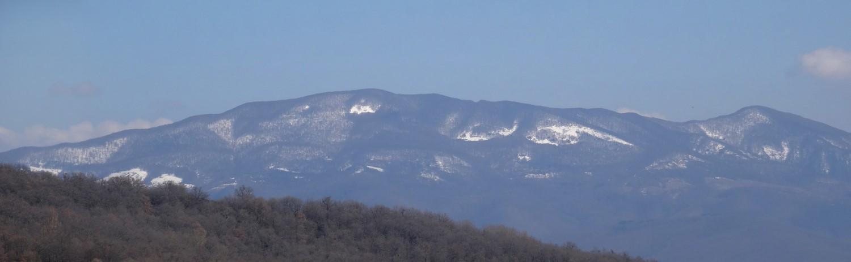 Alpe della Luna, panoramica, da sentiero 502 - Vecchie Vie escursioni trekking casentino Arezzo