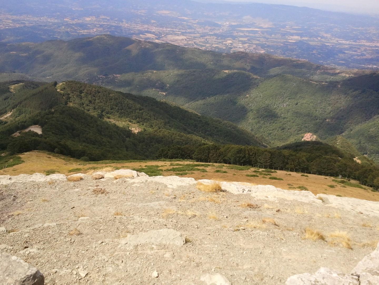 Croce del pratomagno: vista panoramica verso valle