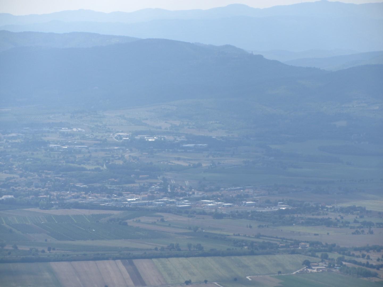 La Val di Chiana dal monte Lignano