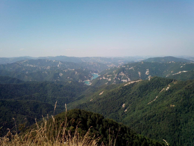 Lago di Ridracoli sul Monte Penna