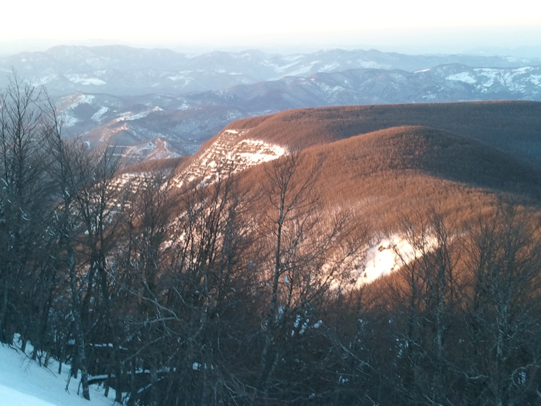 Panorama dal Monte Falco con Neve