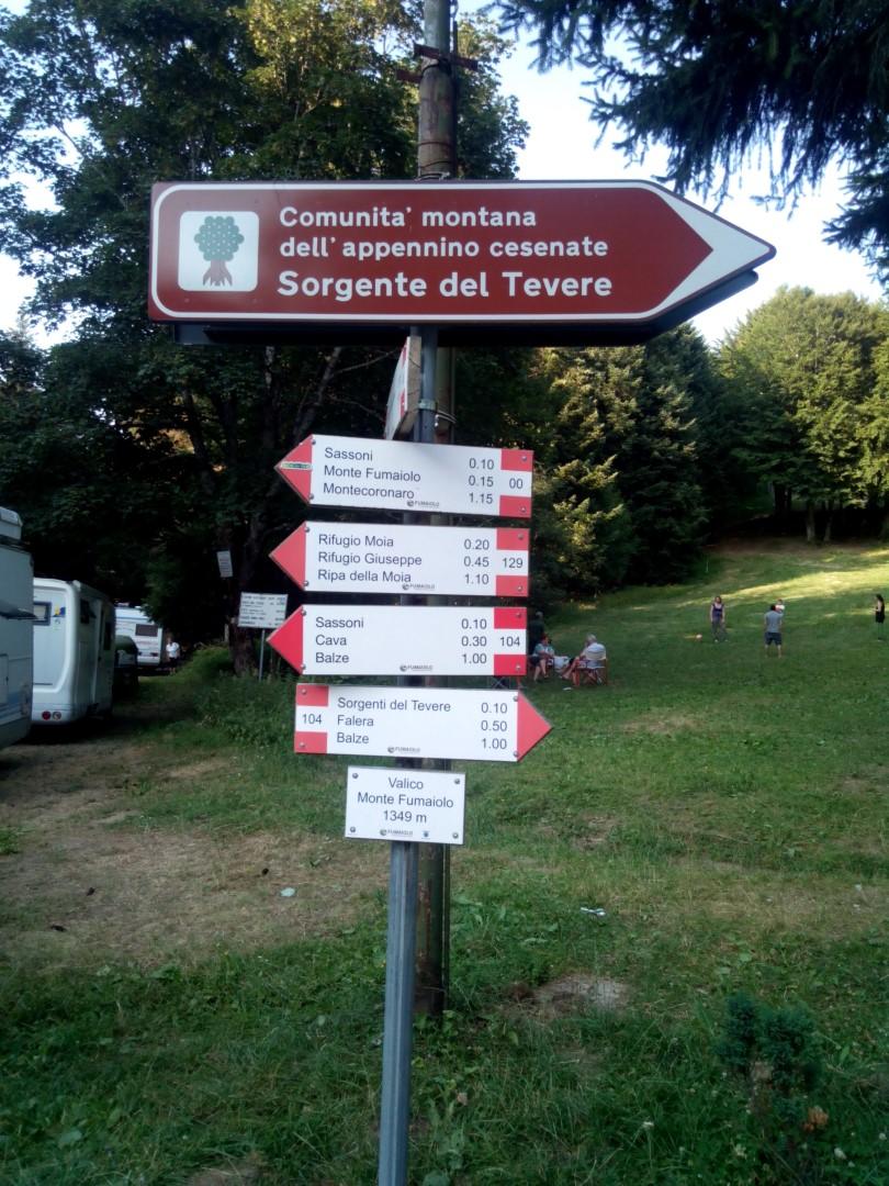 Segnaletica Monte Fumaiolo