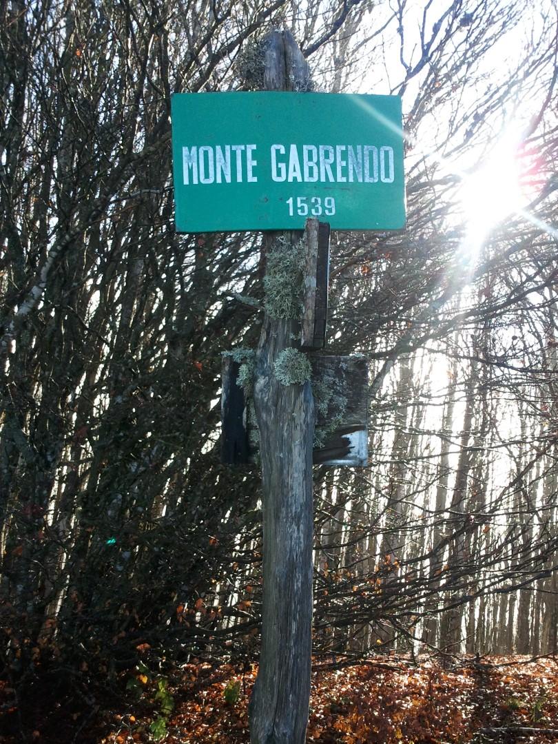 Monte Gabrendo - Cartello segnaletico