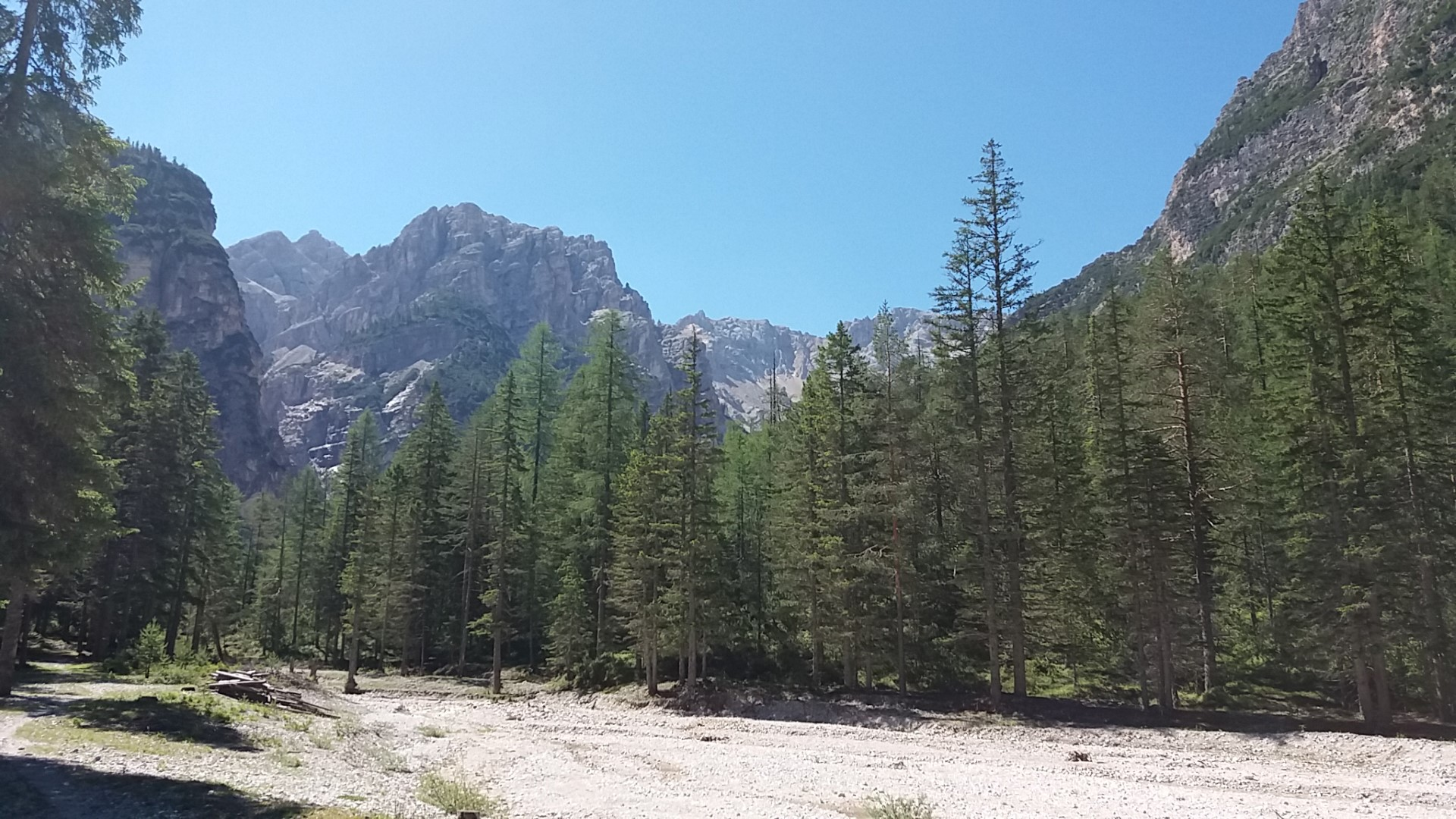 Sentiero dal Tamersc al pederu