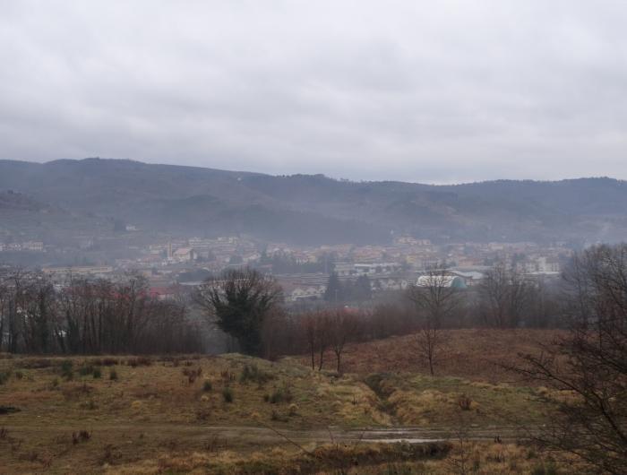 Subbiano vista panoramica da sentiero 00 -Vecchie Vie escursioni trekking casentino Arezzo