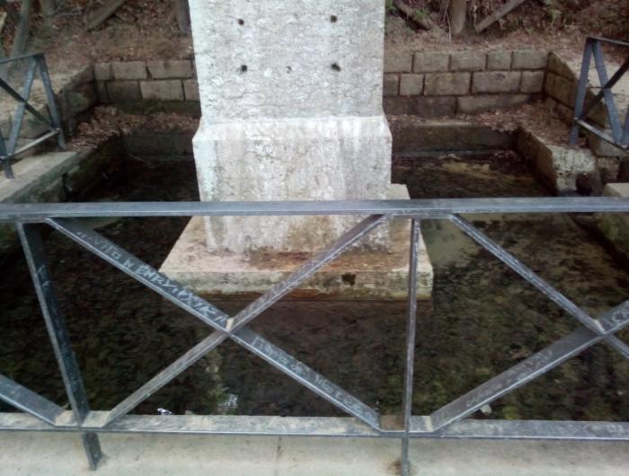 fontana alle sorgenti del tevere