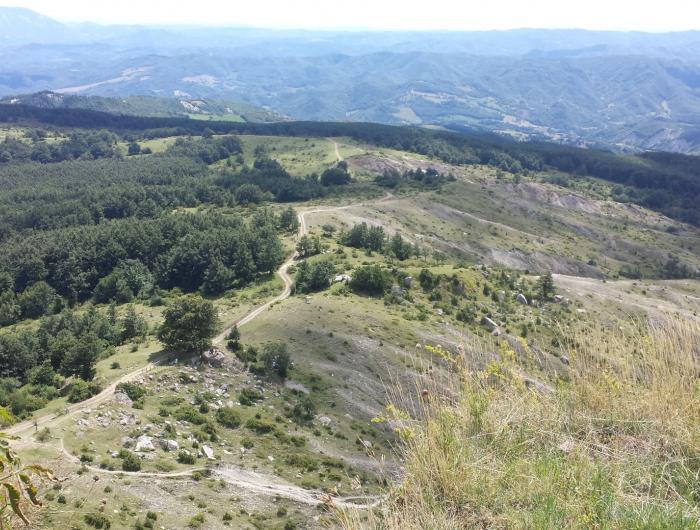 Vista dalla cima del Sasso di Simone - versante sud - Sasso di Simone e Simoncello