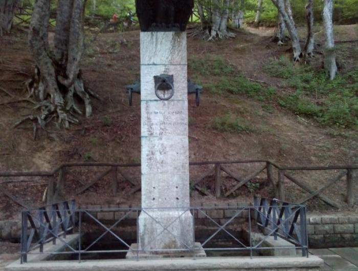 Monumento alla sorgente del tevere