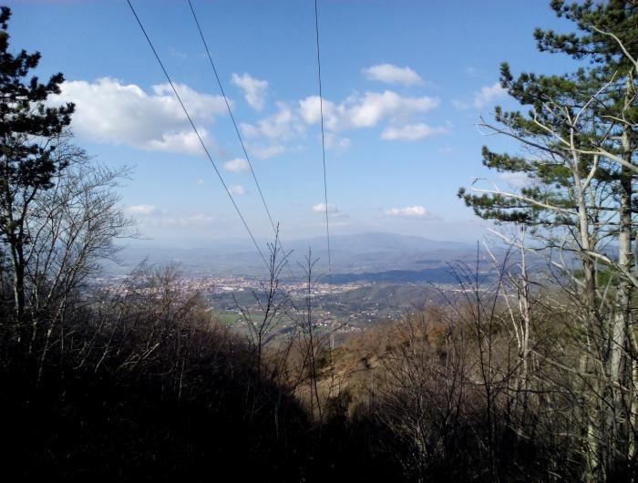 Valle di Arezzo da Lignano-Sentiero551