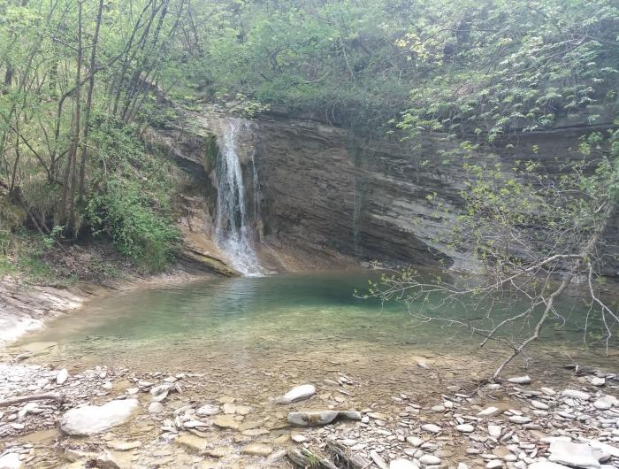 Cascata del fiume nel pressi di Pietrapazza