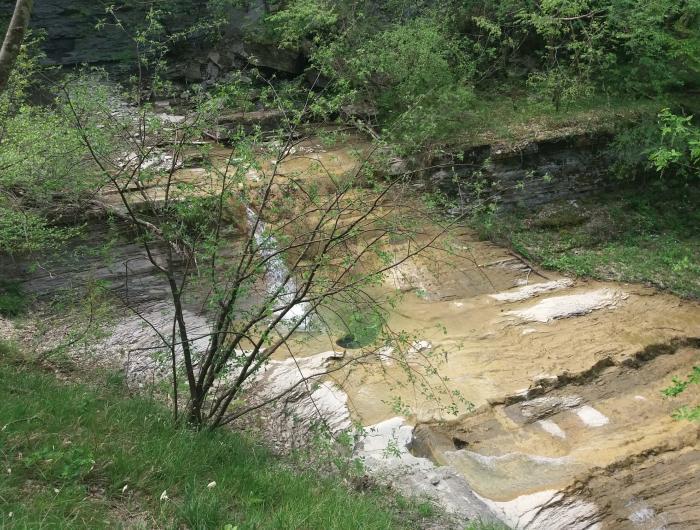 La cascata del fiume a Pietrapazza