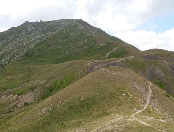 Crinale verso il monte Cimone