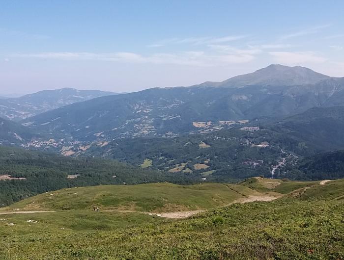 il panorama sulla valle dell'abetone dalla val di luce
