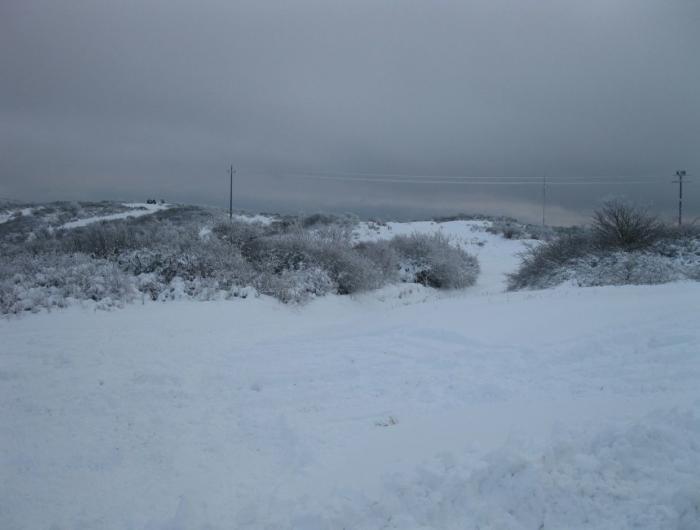 La cima  di Poti con la neve
