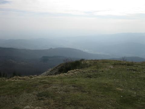 Alpe Catenaia-La vallata di Arezzo vista dal Sasso della regina