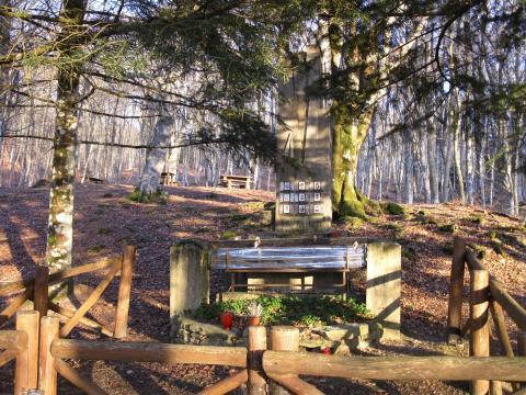 Monumento a caduti per fulmine presso l'Alpe di Catenaia