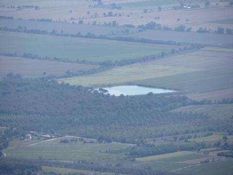 Specchio d'acqua visto dal monte lignano