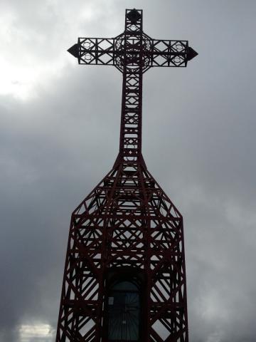 Pratomagno:Foto Croce del Pratomagno con nuvole