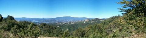 Alpe di Catenaia vista dall'Alpe della Luna