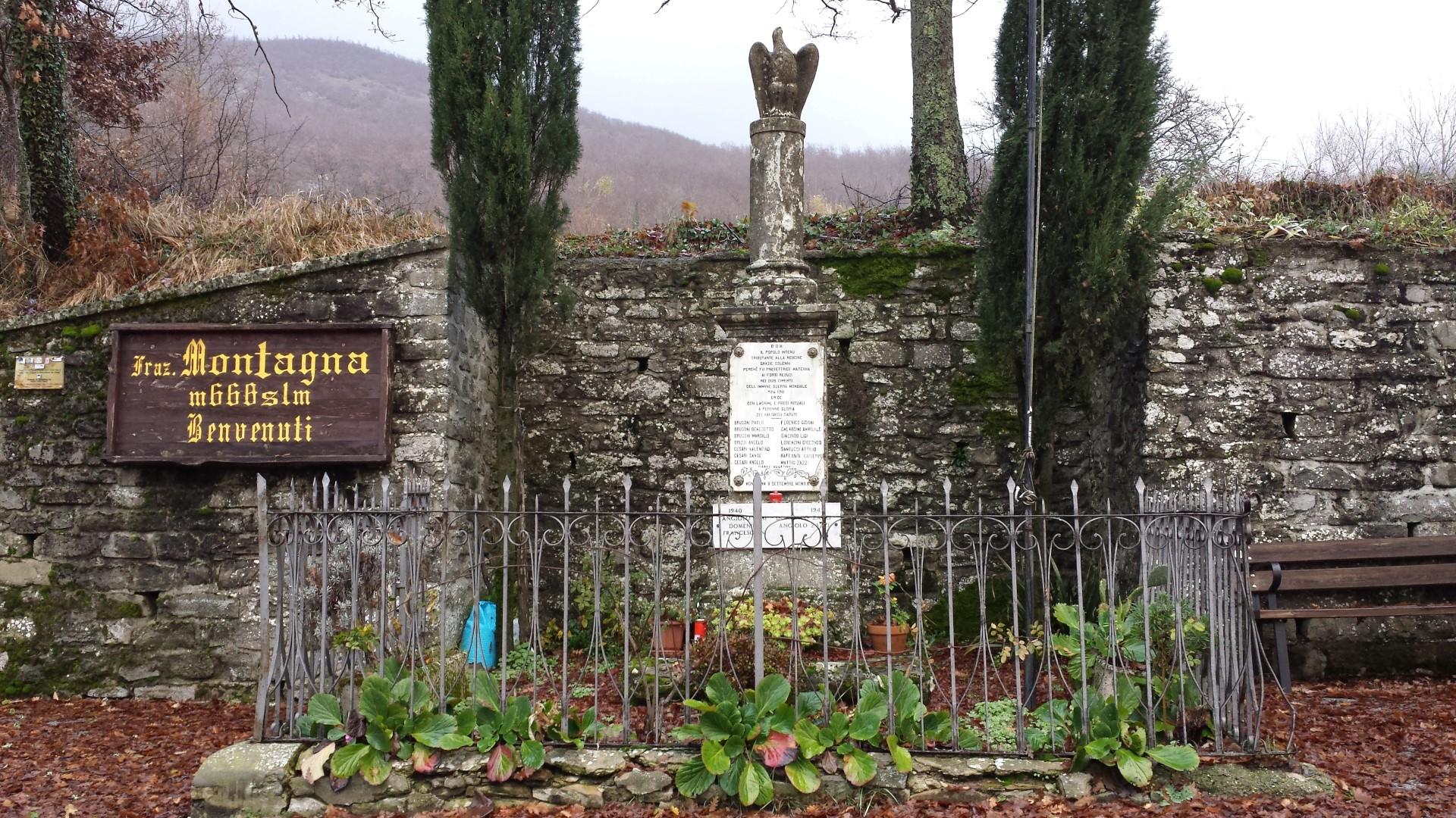La Villa. Monumento ai caduti - Alpe della Luna